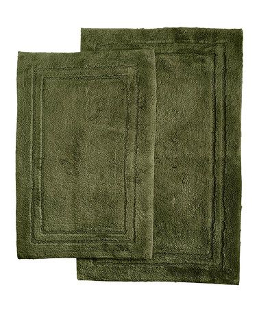 Another great find on #zulily! Forest Green Bath Mat - Set of Two #zulilyfinds