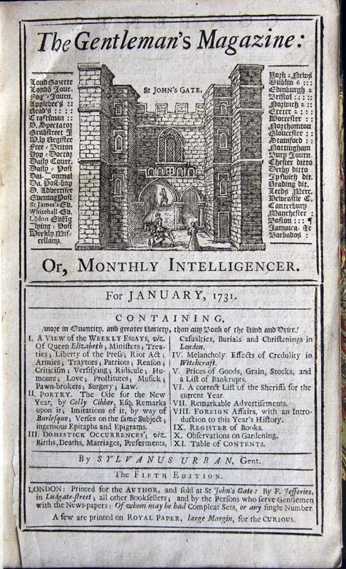 """La palabra inglesa """"magazine"""", 'revista', viene del árabe """"makhazin"""", 'depósito' (en especial de municiones). Era el nombre de una publicación periódica del siglo XVIII acerca del contenido de almacenes militares, llamada Gentleman's Magazine."""