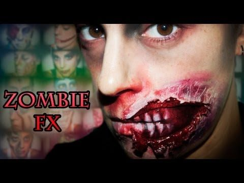 Halloween Make up 5: Zombie FX (special effects) | Silvia Quiros - YouTube