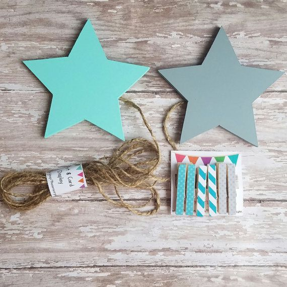 Star Child's Art Display Hanger in turquoise by TheSensoryEmporium