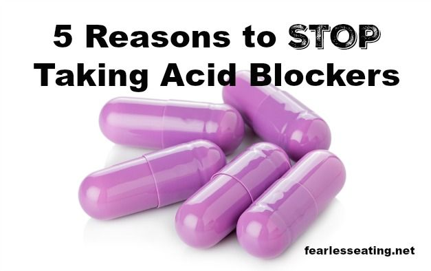 Many people do not stop taking acid blockers once they start. Over time, it gets harder to stop. But there are health consequences to their long term use.