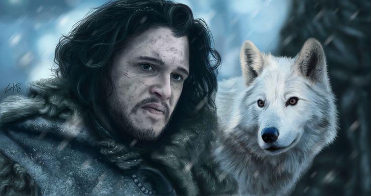 Jon Snow and Ghost by Lukecfc on DeviantArt