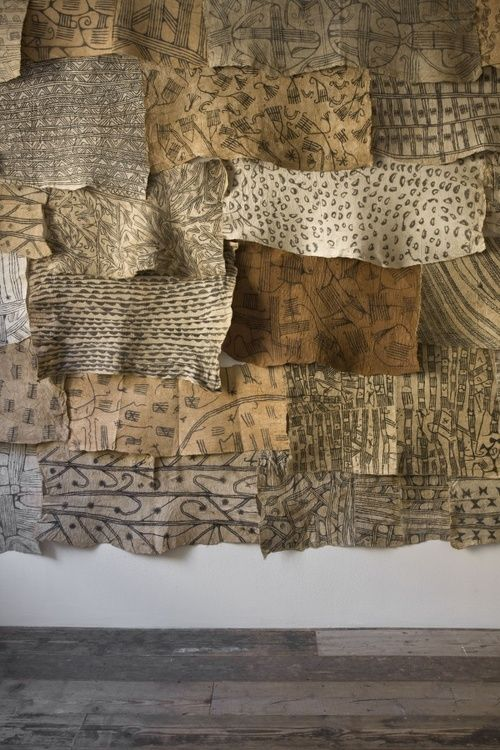 """Exhibition view, """"The Stuff That Matters. Textiles collected by Seth Siegelaub for the CSROT,"""" Raven Row, 2012      Courtesy: the CSROT Historic Textile Collection at the Stichting Egress Foundation, Amsterdam."""
