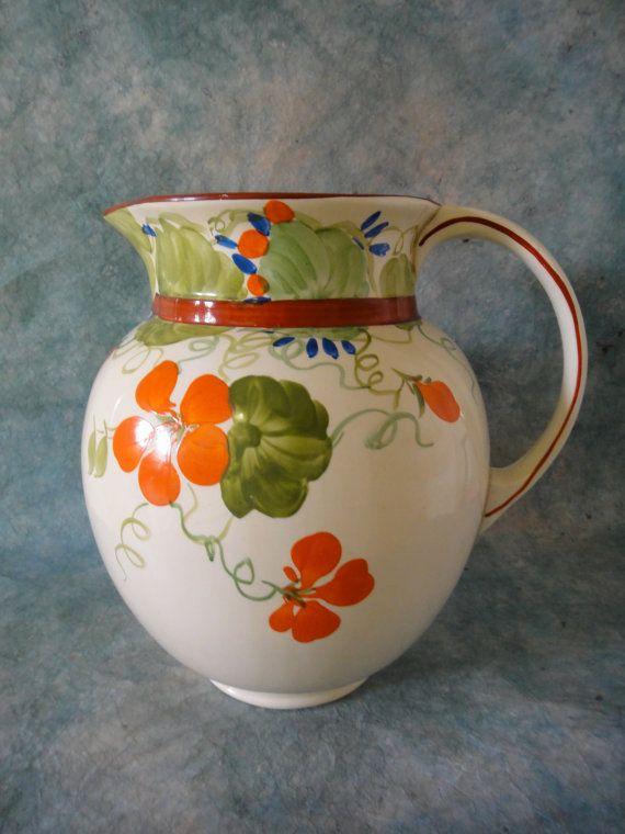 Vintage A J Wilkinson Honeyglaze Water Jug by MERMAIDSNET on Etsy, $55.00