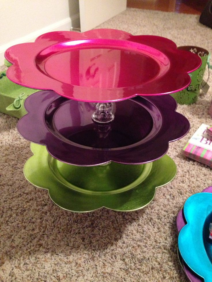 17 best images about cupcake stand creations on pinterest for How to make a cake stand