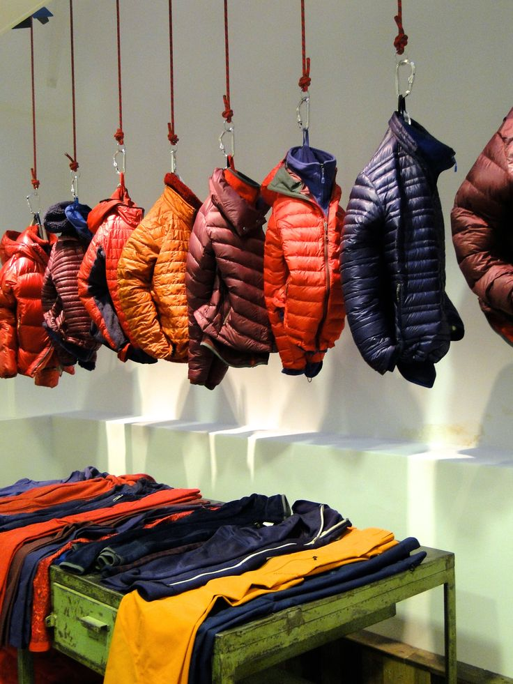 Patagonia, retail design, interior design, styling, showroom, Amsterdam, visual merchandising #jackets