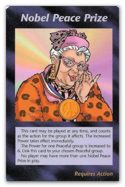 Illuminati Card Nobel Peace Prize