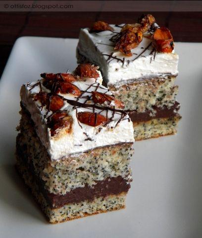 Mákos-pudingos szelet | Ottis főz --- sütőporos süti