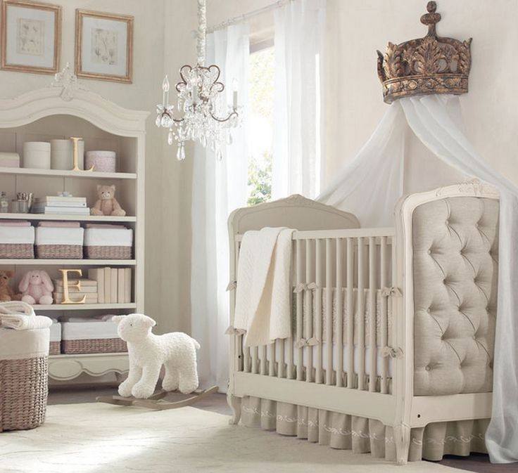 RH Baby U0026 Childu0027s Gilt Demilune Canopy Bed Crown:A Wall Mounted Crown  Equipped With Built In Drapery Rods (and The Drapery Of Her Choice)  Transforms An ...