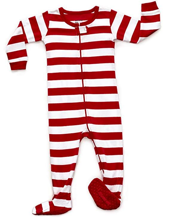 Amazon.com  Leveret Striped Baby Boys Girls Footed Pajamas Sleeper 100% Cotton  Kids   Toddler Christmas Pjs (3 Months-5…  d77c0afb4