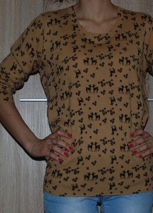 #sarenka #bambi #sweter #karmel Kup mój przedmiot na #vintedpl http://www.vinted.pl/damska-odziez/swetry-z-dzianiny/10724658-sweter-w-sarenki-oversize