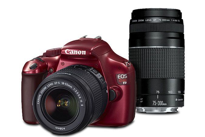 Canon EOS Rebel T3 Red EF-S 18-55mm IS II Lens Kit with EF 75-300mm f/4-5.6 III   Canon Online Store