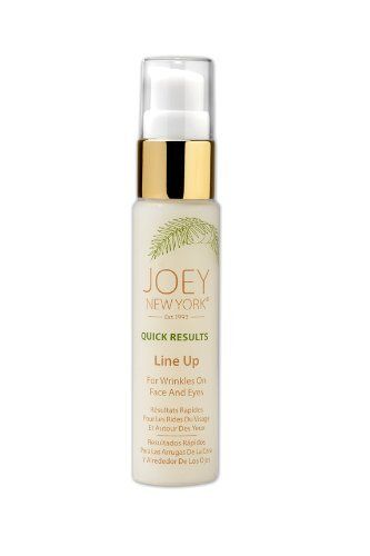 Joey New York Line Up, 1.25-Ounce by Joey New York. Save 17 Off!. $29.89. Leaves face youthful and linesless all day. Immediately and gently helps minimize individual lines and large pores on face and eyes. Smoothes targeted lines, wrinkles, frown lines, crow's feet, eye and lip areas. This precious formula contains young tender green coconut water and Indian ginseng extract complex for line smoothing, healing, and protecting skin. Normalizes damaged and tired complexion. With anti-stress…