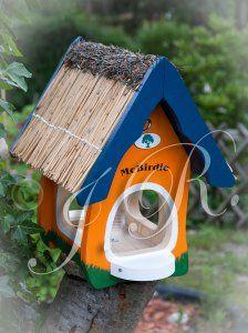 Kup teraz na allegro.pl za 125,00 zł - KARMNIK DREWNIANY malowany domek dla ptaków (6331251720). Allegro.pl - Radość zakupów i bezpieczeństwo dzięki Programowi Ochrony Kupujących!