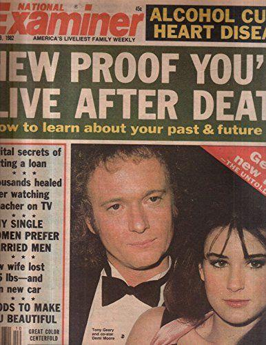 National Examiner 1982 Mar 09 Tony Geary,Demi Moore