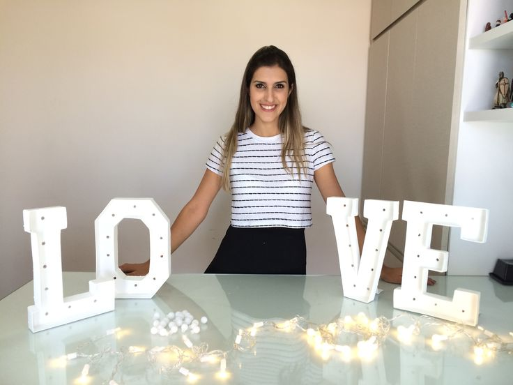 DIY: Letras Iluminadas, agarre essa tendência gastando pouco (marquee letters,  marquee lights ou marquee signs)  http://alineinlove.com
