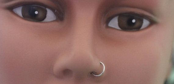 Sterling Silver 18g Nose Ring Tribal Nose Piercing