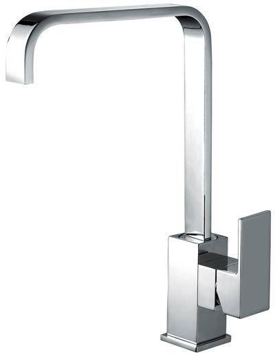 modern square design swivel spout chrome monobloc kitchen sink mixer tap milan. Interior Design Ideas. Home Design Ideas