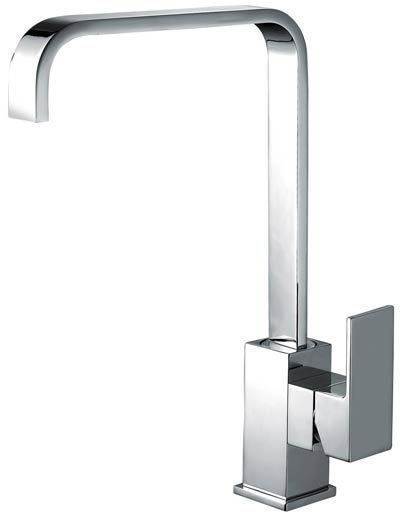 modern square design swivel spout chrome monobloc kitchen sink mixer tap milan - Kitchen Sink Mixers