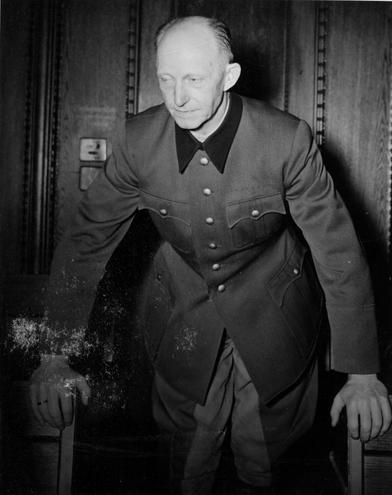 Colonel General Alfred Jodl at the Nuremberg Trials, Germany, 1946