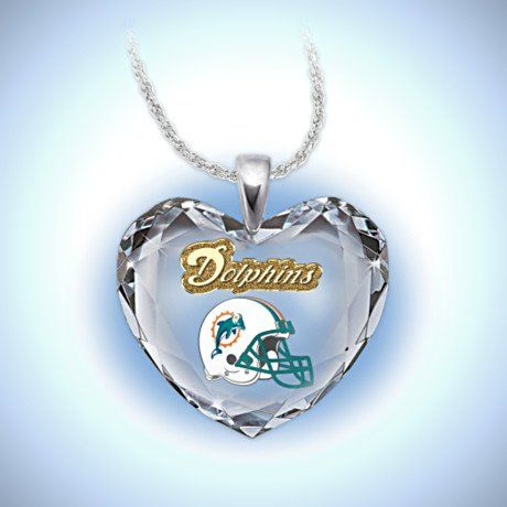 NFL Jewelry and NFL Handbags - NFL Miami Dolphins Pendant Necklace: Go Dolphins!