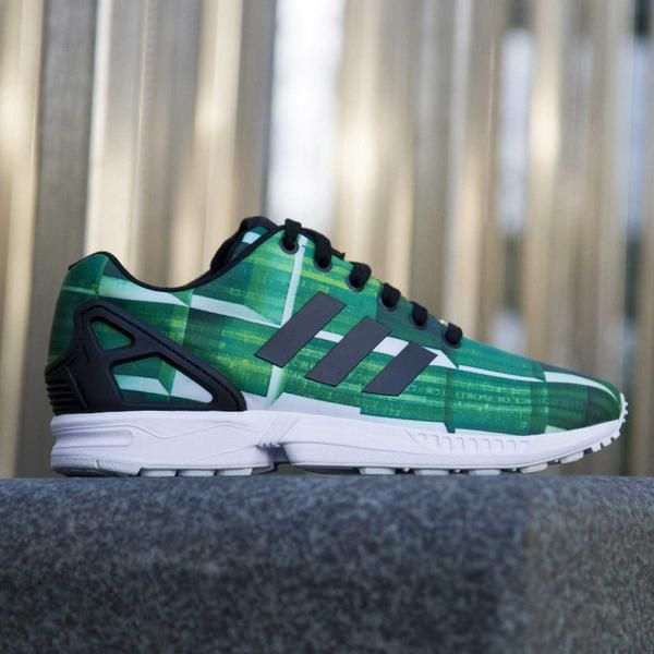 Adidas Zx Flux Green Black