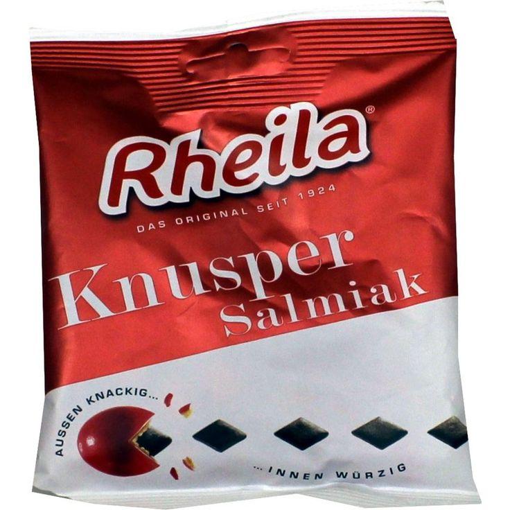 RHEILA Knusper Salmiak mit Zucker Bonbons:   Packungsinhalt: 90 g Bonbons PZN: 02461337 Hersteller: Dr. C. SOLDAN GmbH Preis: 1,64 EUR…