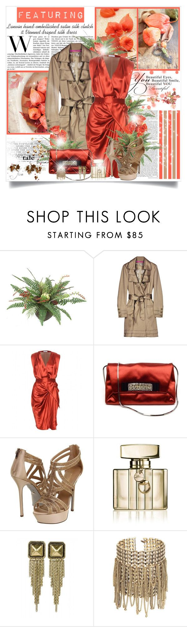 """Autumn Tale of Love"" by mrstom ❤ liked on Polyvore featuring Emanuel Ungaro, Vionnet, Lanvin, Sergio Rossi, Gucci, Jules Smith and Ellen Arthur"