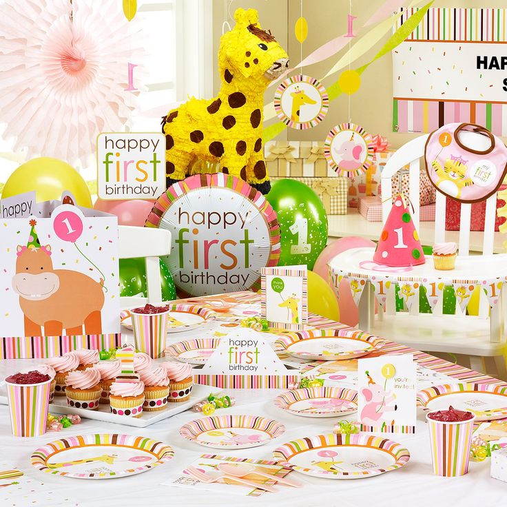 Party Animal 1st Birthday First Birthday Ideas: Sweet Safari Pink 1st Birthday LeighAnn Riley :)
