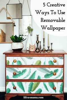 Removable wallpaper is a great, temporary alternative to traditional wallpaper that looks just as good as the real stuff and it way easier to handle. Here are five fun projects that can easily show off your new removable wallpaper.