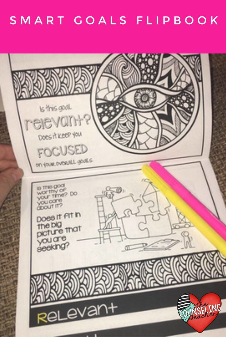 Coloring book for notability - Smart Goals Flip Book