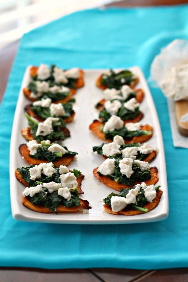 Spiced Sweet Potato Bites with Kale and Goat's Cheese ...