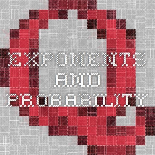 Exponents and Probability: After completing this module, participants will understand the function of an exponent and be able to calculate a simple equation with exponents. Participants will also understand that probability is the likelihood of an event and learn how to use tools to support student understanding of probability.