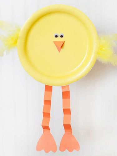 Paper Plate Easter Chick: For this easy craft, your kids can effortlessly upgrade simple yellow dessert plates into cute baby chicks.