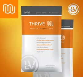 THRIVE Premium Vanilla Lifestyle Mix (16 Single Serving Packets)  THRIVE Mix is the finishing touch to the only Ultra Premium Product Line available - THRIVE. This ultra micronized mix was perfectly designed to complement our THRIVE Lifestyle Capsules and DFT. Our blend of Vitamins, Minerals, Plant Extracts, Anti-oxidants, Enzymes, Pro-Biotics, and Amino Acids is the first and only Ultra Premium Mix ever developed.  THRIVE Mix, combined daily with the THRIVE Capsules and DFT, completes a pre
