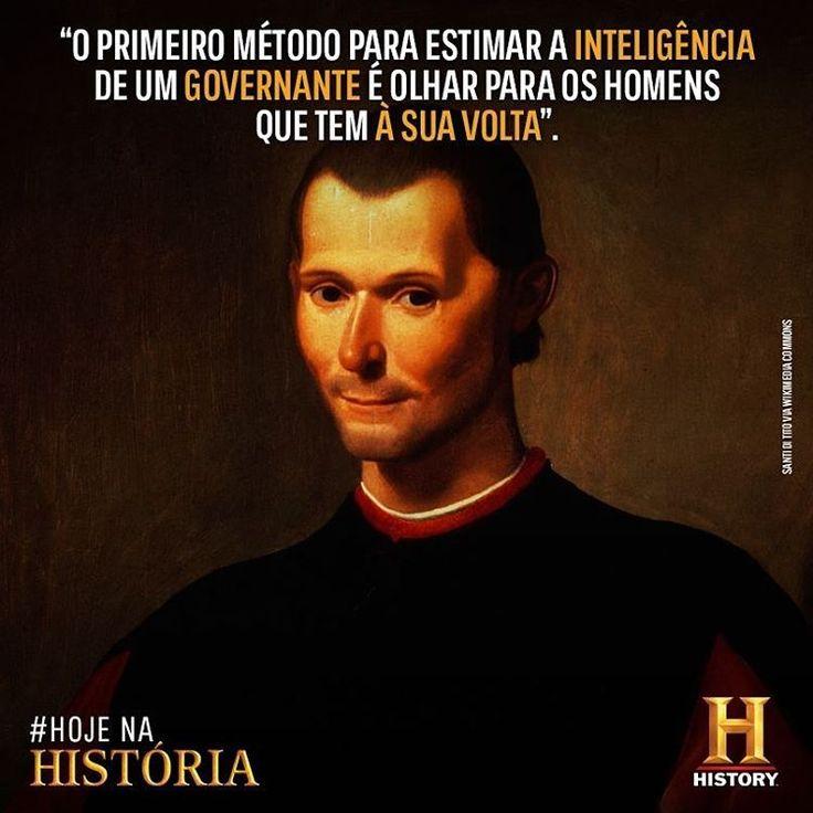 #HojeNaHistória Neste dia, em 1469, nascia Nicolau #Maquiavel, um homem político, diplomático, filósofo, historiador, poeta e autor teatral italiano.
