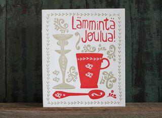 Lämmintä joulua (letterpress)  - Astubutiikkiin.fi