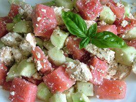 Smak Zdrowia: Sałatka z arbuza i białego sera