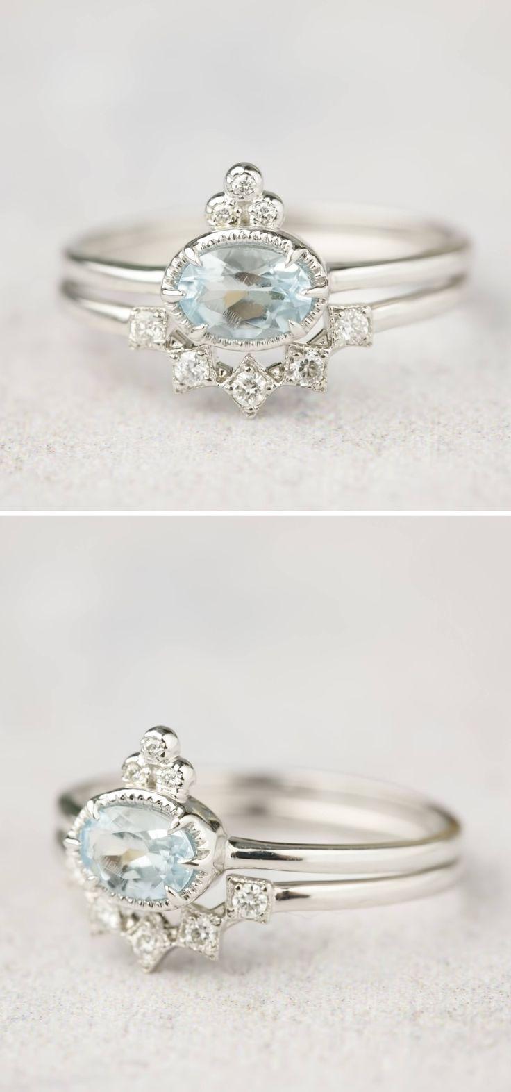 Aquamarine Engagement Ring || Alternative Engagement Ring || Budget Friendly Engagement Ring #Engaged