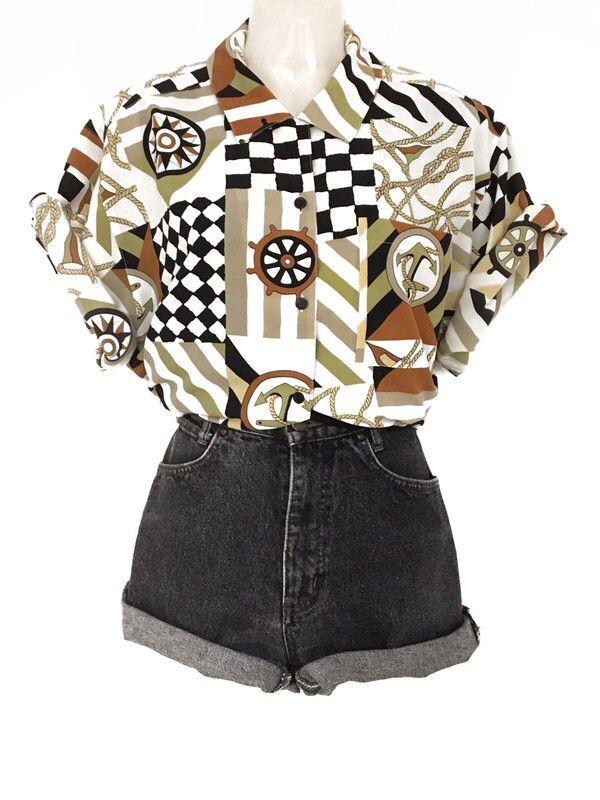 Vintage 80s Tru Blouse 80er Jahre Bluse Oversize