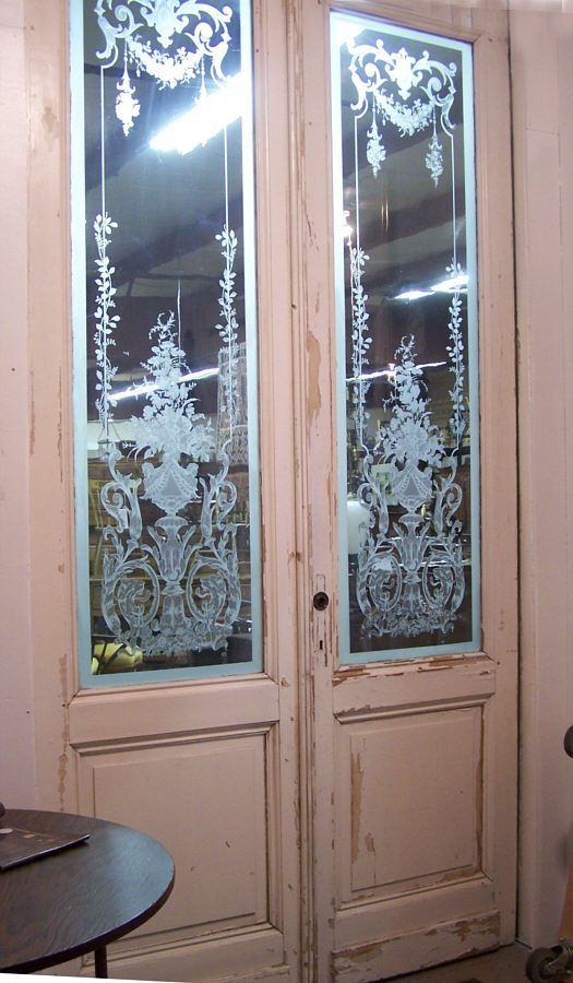 Deco- so beautiful! glass etched doors