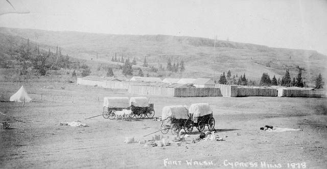Fort Walsh, Cypress Hills, 1878.