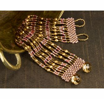 Alexandria Easy netted bracelet, free instructions