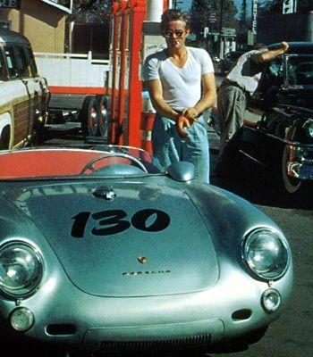 James Dean and his Porsche
