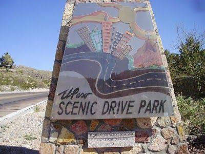 Scenic Drive Park in El Paso, Texas