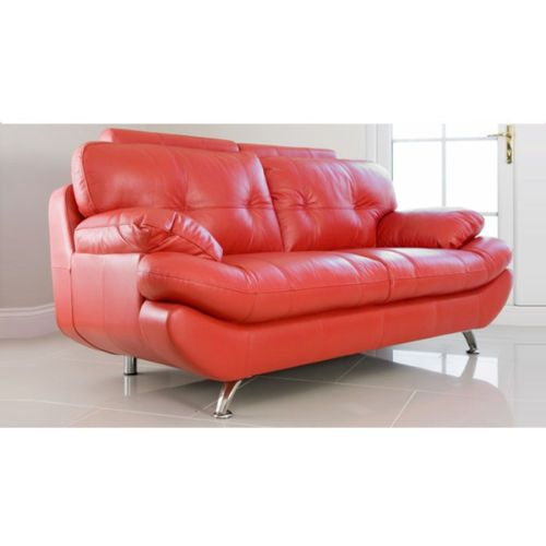 New BRAND NEW – RED SANDY 3 2 SEATER SOFA SET – FAUX LEATHER For Your Plan - Awesome 2 seater sofa Awesome