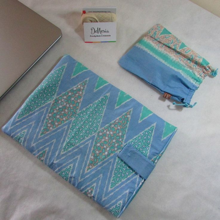 Blue DeNesia's Ethnic Batik Rangrang Laptop Sleeve | Sarung Latop Batik | LS06
