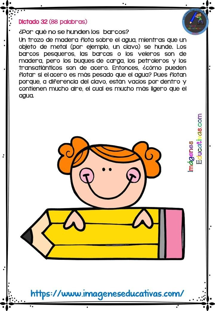 30 Dictados Para Primaria 1º 2º Y 3º Ciclo 10 Metodos De Lectura Imagenes Educativas Enseñando A Escribir