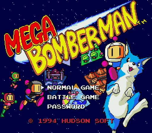 Mega Drive (EUROPE) MEGA BOMBERMAN on the RetroN5 System Smooth Filter   #Retron5 #Videogamesnewyork #Retron5ScreenShots #Hyperkin #MegaDrive #letsplayimports #bomberman