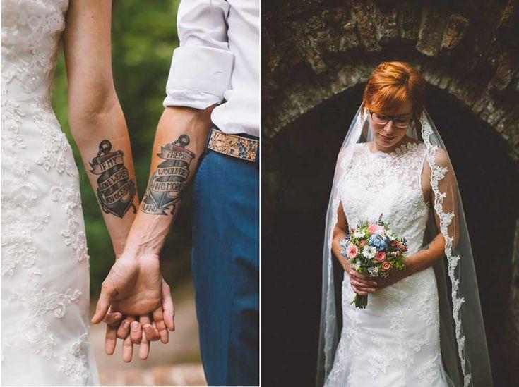 Een tattoo als trouwring! //Foto: OAK&FIR.